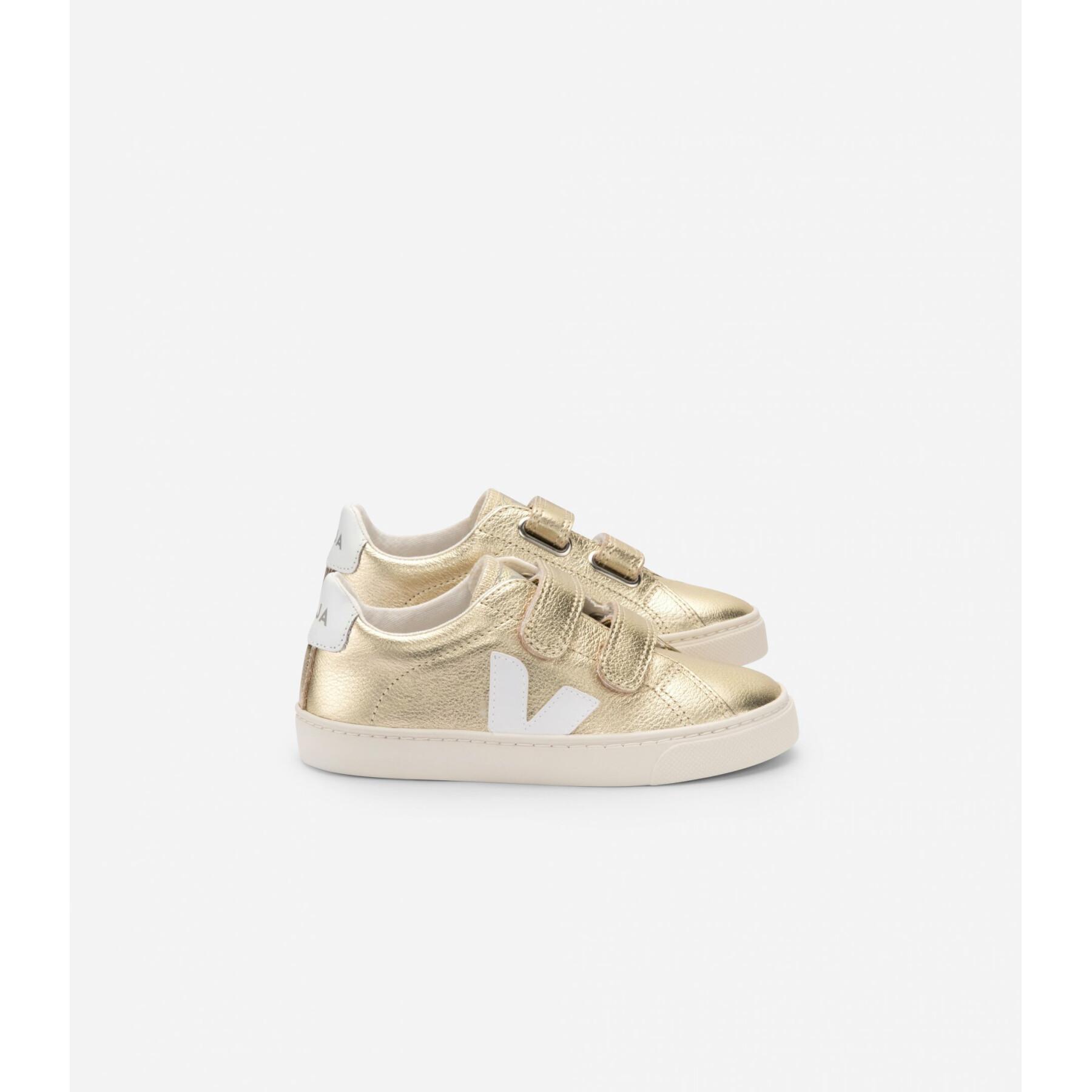 Zapatos para niños Veja Esplar Leather Gold